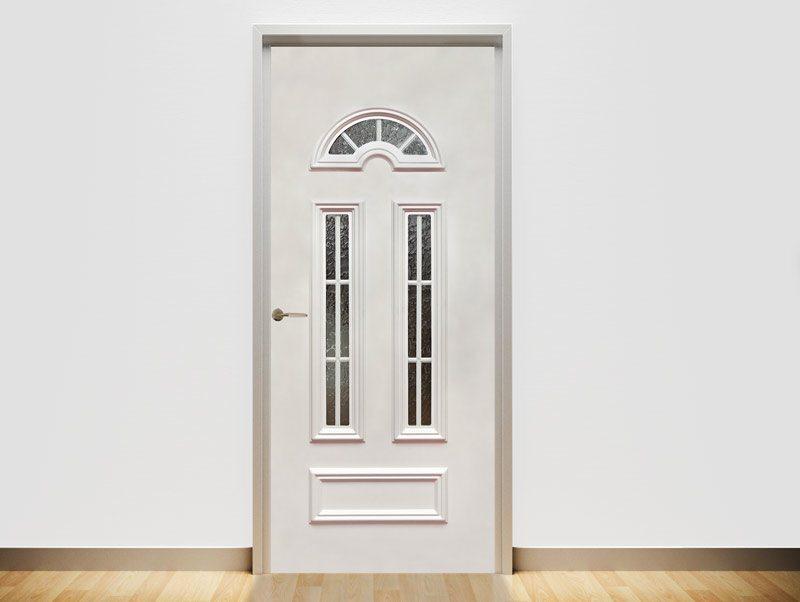 טפט מעוצב לדלת | מדבקת טפט לדלת בעיצוב נקי עם חלון