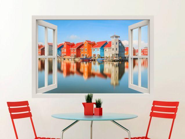 טפט קיר - חלון עם נוף