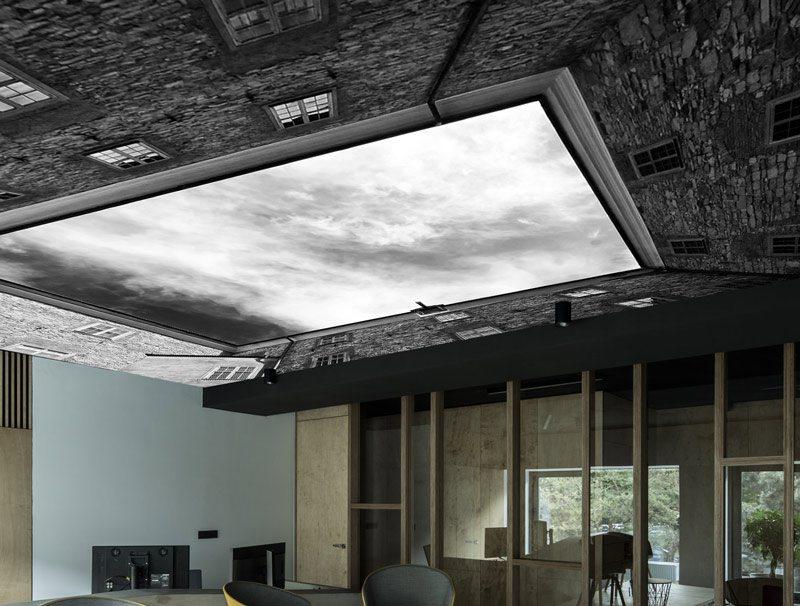 טפט לסלון | טפט לתקרה | שמיים סוערים