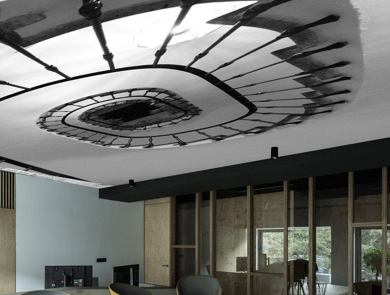 טפט לחדר ישיבות | טפט לתקרה | מדרגות לשמיים