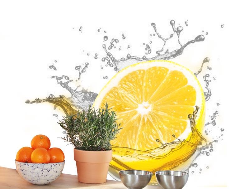 טפט למטבח | טפט מדבקה | לימון מרענן