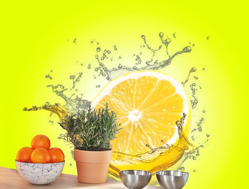 טפט למטבח | טפט מדבקה | לימון רענן