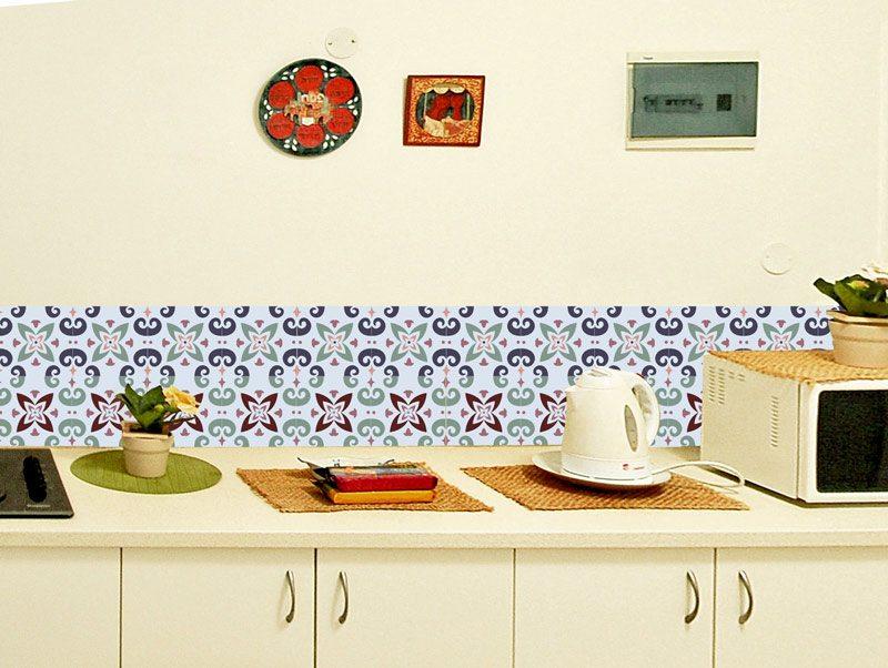 מדבקת קיר למטבח | מדבקות אריחים | טווס