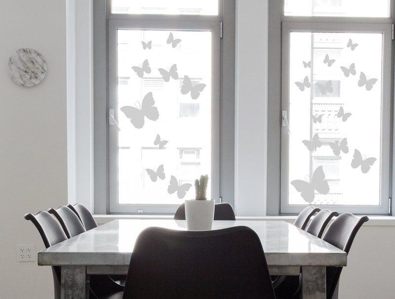 מדבקת קיר מדבקה לזכוכית | פרפרים