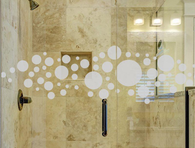 מדבקות קיר למקלחת | מדבקה לזכוכית | בועות