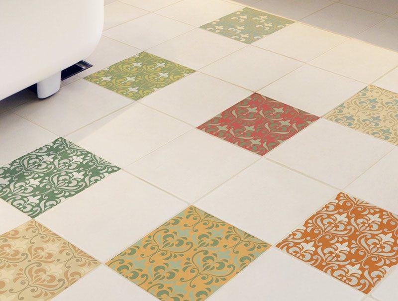 מדבקות קיר | מדבקות אריחים לרצפה | עיצוב מרוקאי