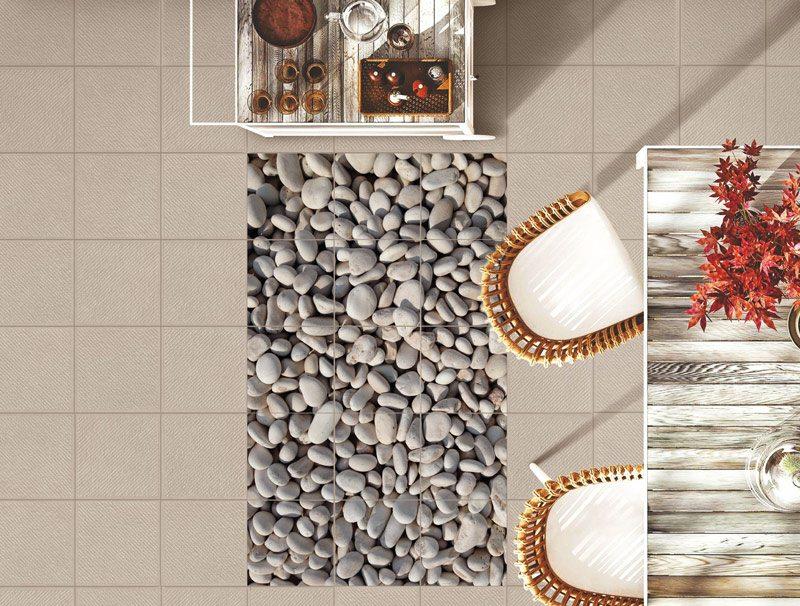 מדבקת קיר אריחים | מדבקות רצפה | אבנים קטנות