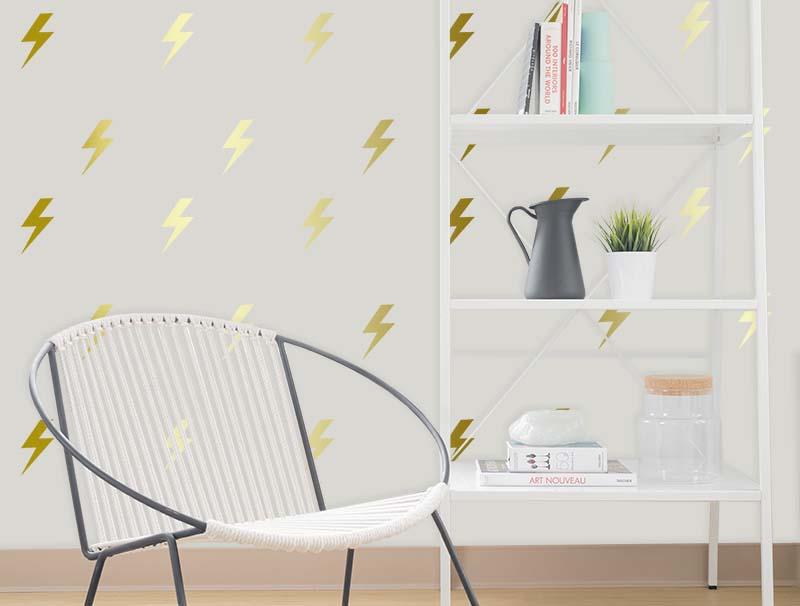 מדבקת קיר | סט מדבקות קיר | ברקים