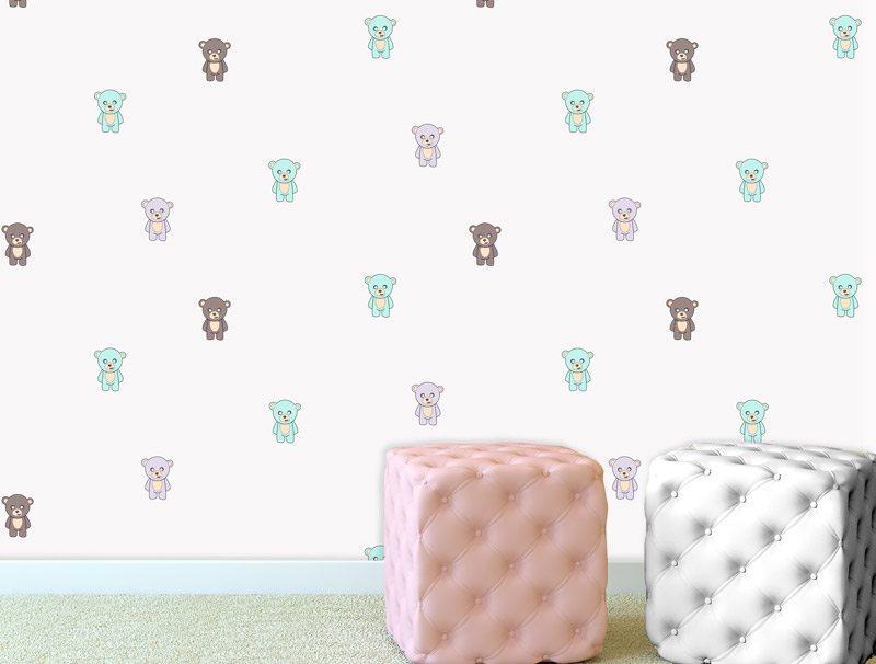 טפט לחדרי תינוקות | טפט מדבקה | שלושת הדובים