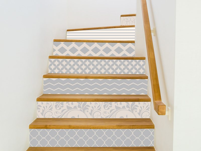 טפט למדרגות | מדבקות למדרגות | תפזורת