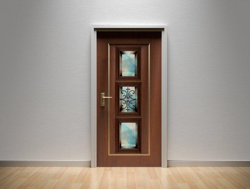 מדבקות קיר | מדבקות לדלת | מדבקת קישוט לדלת | נישת זכוכית טורקיז
