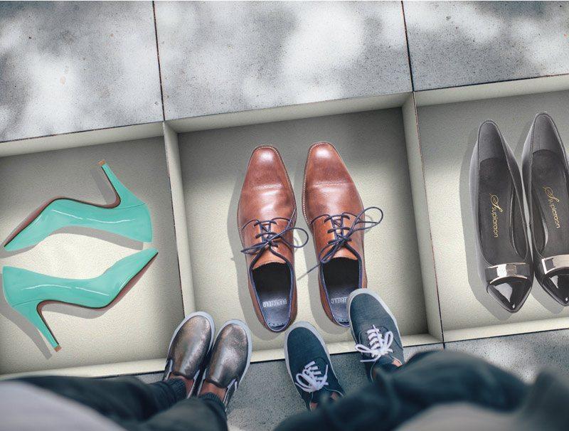 מדבקות קיר | מדבקות נישה לרצפה | קופסאות נעליים
