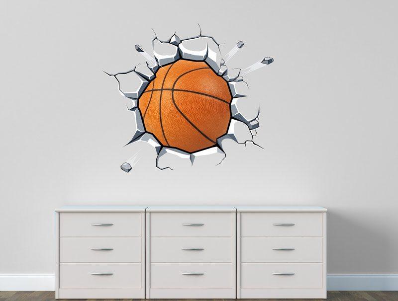 מדבקת קיר תלת מימד כדורסל